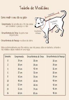 Legal pra Cachorro: Tabela de Medidas                                                                                                                                                                                 Mais
