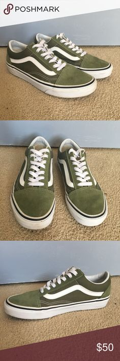 3c19a5777d9 Vans Old Skool Olive green old skool vans. Used but in great condition. Vans