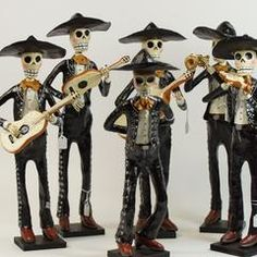 Beautiful and very well made paper mache mariachis. These fellows are handmade in the great state of Michoacán. Purchase separately or as a set of 5 different musicians. Their hats are removable and t