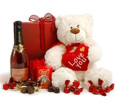 Giant Teddy and Rosé Champagne for your special Valentine