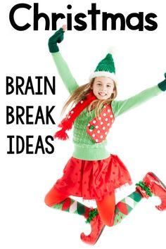 A list of fast, fun, and efficient ways to move your body with a Christmas or Holiday theme. Each brain break is designed to last under a minute and only needs a small amount of space! Fine Motor Activities For Kids, Movement Activities, Sensory Activities, Infant Activities, Therapy Activities, Sensory Play, Classroom Games, Classroom Resources, Superhero Classroom