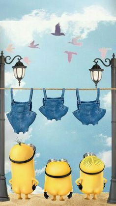 Popular and Trending minions Images on PicsArt Minion Wallpaper Iphone, Galaxy Phone Wallpaper, Apple Logo Wallpaper Iphone, Disney Phone Wallpaper, Cute Wallpaper Backgrounds, Cute Cartoon Wallpapers, Aesthetic Iphone Wallpaper, Cute Minions, Funny Minion Memes