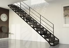Rampe m tal pour escaliers on pinterest mezzanine metals and railings - Escalier de la tour eiffel ...