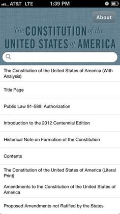 The Constitution? There's a New App for That