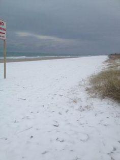 Beach Snow Start Offseason House Hunting Topsail Island