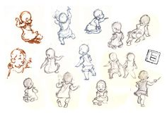gesture drawing baby quick sketche