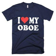 I Love My Oboe, men's t-shirt