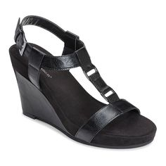 A2 by Aerosoles Plush Nite Women's Wedge Sandals, Size: 9.5 Wide, Black