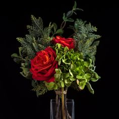 SCARLET ROSE BOUQUET - BOUQUETS - WYLD HOME - 1