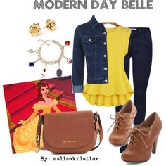 Princess Belle inspired look! Modern Day by mslisakristine on Polyvore featuring polyvore, fashion, style, Topshop, ONLY, Michael Kors, Marc by Marc Jacobs, modern and clothing