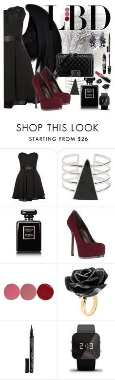 """x53"" by ja1decrazymofo ❤ liked on Polyvore featuring Dickies, Laona, Chanel, SunaharA, Yves Saint Laurent, Charlotte Tilbury, Nach Bijoux, Max Factor, Smith & Cult and 1:Face"