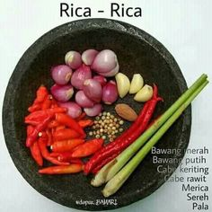Indonesian Rica Rica spices Manado cuisine, used for all kinds of meats, poultries, freshwater fishes and seafoods can be made into rica rica dish Cooking Ingredients, Cooking Recipes, Sambal Recipe, Malay Food, Spicy Dishes, Indonesian Cuisine, Asian Recipes, Love Food, Easy Meals