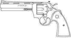 Colt Revolver Drawing