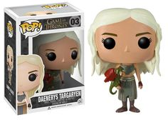 Game of Thrones Daenerys Targaryen Pop! Vinyl Figure from Funko. Perfect for any Company_Funko Product Type_Pop! Vinyl Figures Theme_Game of Thrones fan! Game Of Thrones Toys, Game Of Thrones Figures, Game Of Thrones Series, Pop Game Of Thrones, Pop Vinyl Figures, Funko Pop Figures, John Snow, Jaime Lannister, Khal Drogo