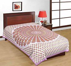 Odishabazaar Sanganeri Printed Cotton Single Bedsheet Bedcover in Multicolor Odishabazaar http://www.amazon.com/dp/B01CJGMKSW/ref=cm_sw_r_pi_dp_1zS2wb1T8VG7P