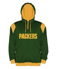 50603f07a Green Bay Packers Contrast-Lined Hoodie - Men s Big  amp  Tall  zulily