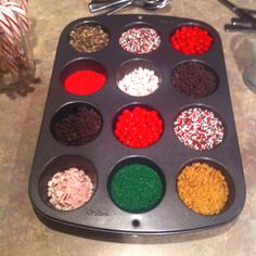 Christmas sugar cookie decorating station! ***One for each table*** NEED to remember to do this with the kids!