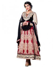 Maroon Designer Embroidered Georgette Semi Stiched Salwar Suit-VSRIC-11003  www.mastimall.com  #MastiMall.com#MastiMall#Semi Stitched Dress#Dress Material#Cotton Suits #Designer Salwar Kameez#Party Wear Dress#Ethnic Wear#Clothing