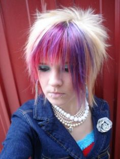 Cut and color.  Google Image Result for http://whatisfashions.com/wp-content/uploads/2012/06/barbietch-scene-kid-hairstyles-scene-girls-emo-hair-photo-gallery-e1337518374507.jpg