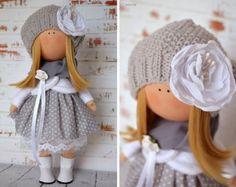 Angel Boy doll Fabric doll Tilda doll white by AnnKirillartPlace