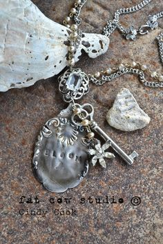 spoon bloom, recreat jewelri, bloom necklac, silver spoons, necklaces, beauti thing, key, charm necklac