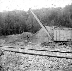 Along the Old Pennsy The Slide Area near the Middle Falls had posed a problem for the old Canal - the railroad had to keep a steam shovel nearby to keep the tracks open. Ted Bartlett sent these images and the following description:  These photos were taken in 1960, with my black Kodak Hawkeye camera I was 11 years old then but had been hiking to the areas since I was a little kid.Our family used to walk the RR from the locks to P'ville as a regular hike, often. I was always fascinated with…