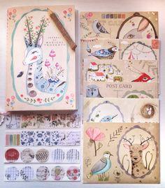 Акварельные открытки Lily Moon - Ярмарка Мастеров - ручная работа, handmade