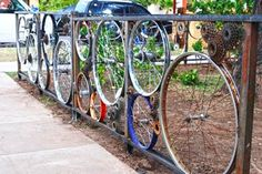 20 clever photos of old bicycles that have been masterfully repurposed and turned into fences. Great ideas for the bicycle lover in need of a fence.