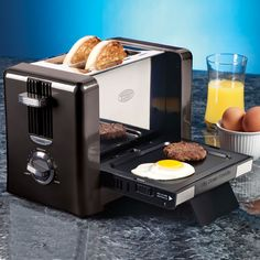 Nostalgia Breakfast Toaster & Griddle Combo - What a great idea.