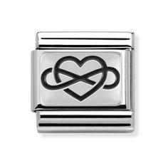 Nomination Steel & Oxidised Silver Infinite Love Charm 330102/05