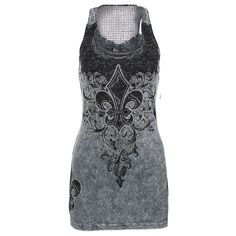 Vocal Women's Filigree Fleur De Lis Tank Top