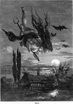 Ведьма (Witch), Illustration from 'Живописная Россия' (Picturesque Russia), Vol.5 , 1897