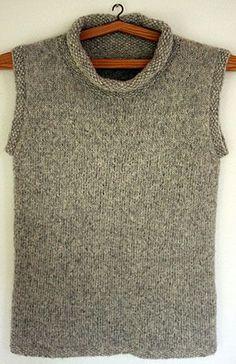 Foto af lang vest i Blow-Yarn Vest Pattern, Sweater Knitting Patterns, Knit Vest, Pulls, Pattern Fashion, Knitwear, Knit Crochet, Sweaters, Clothes