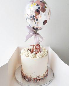 Instagram post by Ana's Cake Studio Liverpool • Aug 12, 2018 at 9:01pm UTC 19th Birthday Cakes, Gold Birthday Cake, 18th Birthday Party, Fondant Cake Designs, Fondant Cakes, Cupcake Cakes, Baked Donuts, Balloon Cake, Ice Cake