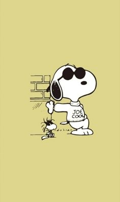 Shop Joe Cool snoopy t-shirts designed by buckland as well as other snoopy merchandise at TeePublic. Snoopy Et Woodstock, Snoopy And Charlie, Charlie Brown And Snoopy, Snoopy Images, Snoopy Pictures, Peanuts Cartoon, Peanuts Snoopy, Cute Disney Wallpaper, Cute Cartoon Wallpapers