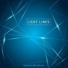 Bleu lignes de lumière fond Vecteur gratuit