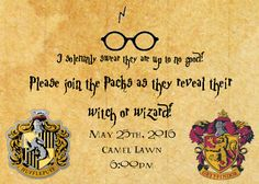 Harry Potter themed Gender Reveal! Maurader's Map gif Invite