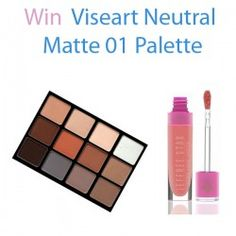 Win Viseart Neutral Matte 01 Palette ^_^ http://www.pintalabios.info/en/fashion-giveaways/view/en/3578 #International #MakeUp #bbloggers #Giweaway