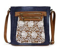 Scarleton Fashion Denim Crossbody Bag H174007  Blue -- Visit the image link more details.