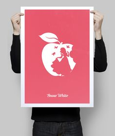 Alternative Snow White minimalist art print. #disney #minimalist #poster #print #geek #snowwhite #disneyposter #wallart #goldenplanet