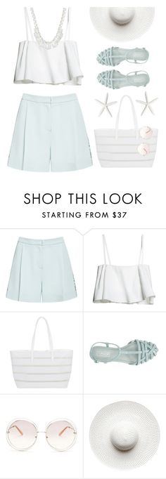 """""""* h i g h   w a i s t e d * Contest! Enter!"""" by kearalachelle ❤ liked on Polyvore featuring Elie Saab, BUCO, Topshop, Chloé, Witchery and ALDO"""