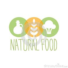 Vegan Natural Food Green Logo Design Template With Broccoli, Oil And Wheat Promoting Healthy Lifestyle And Eco Products Stock Vector - Image: 82823738