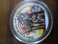 1971 painted ike dollar defenders of freedom by DrewsCollectibles, $5.25