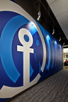Kuehne + Nagel Wall mural for workspace graphics