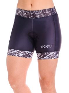 Women's Cycling Shorts in Femme Fatale Design | High Performance Women's Triathlon Kits, Running and Cycling Gear | Coeur Sports