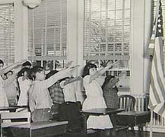 The US 'Bellamy Salute', before WWII