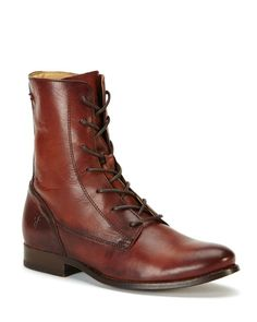 Frye Melissa Lace Up Booties