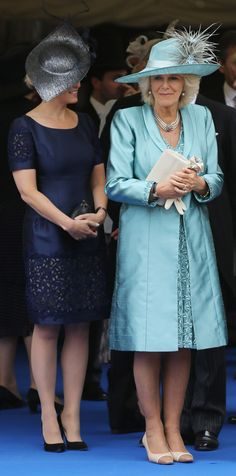 Countess Sophie and Duchess Camilla attending the Order of the Garter ceremonies at Windsor Castle 17 June 2013