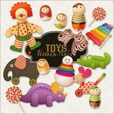 Friendly Scrap: New Freebies Toys Kit