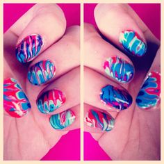 Things the Internet Taught Me: EasyMarbledNails  I have been seeing AWESOME marbled nails all over the internet. There is anartistrybehi...